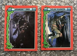 1991 Topps Teenage Mutant Ninja Turtles TMNT II Movie Cards Lot: #94 & #96 - $3.92