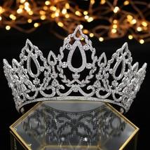 Luxury Queen Crown Wedding headwear Bride Accessories Hair Jewelry Acces... - £77.07 GBP