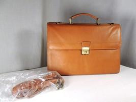 Columbian Leather Brifecase 4 File Section Brief Business Shoulder Messenger Bag - $89.99
