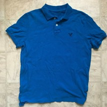 American Eagle Outfitters AE Mens Blue Polo Shirt Size Medium - $251,13 MXN