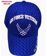USAF U.S. AIR FORCE VETERAN AIR COOL MESH MILITARY BASEBALL HAT CAP LICE... - $8.89