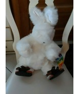 vermont teddy bear flashback white bunny w/ adorable buckle sandals - $35.00