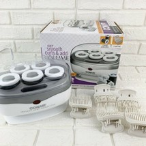 Conair Instant Heat Travel Hot Rollers 5 Jumbo Rollers White TS7X Volume... - $13.49