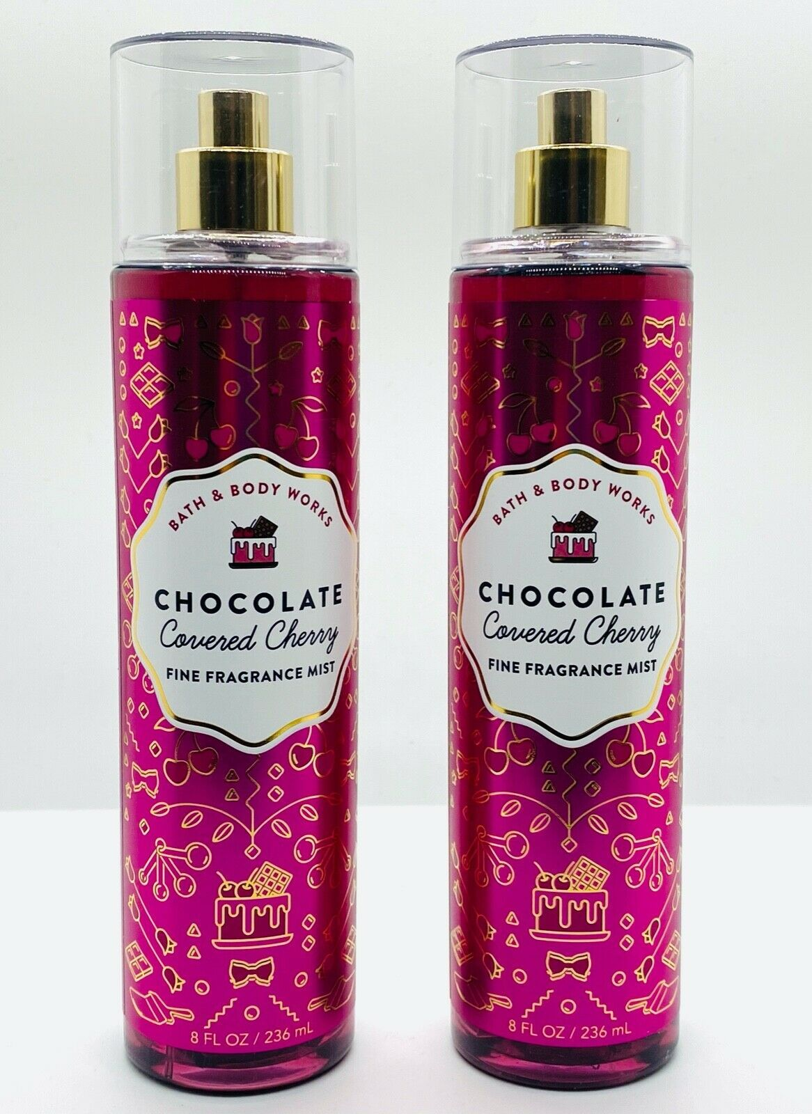 Primary image for 2 Bath Body Works Chocolate Covered Cherry Fine Fragrance Mist Spray 8 fl.oz