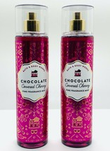 2 Bath Body Works Chocolate Covered Cherry Fine Fragrance Mist Spray 8 f... - $25.82