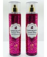 2 Bath Body Works Chocolate Covered Cherry Fine Fragrance Mist Spray 8 f... - $27.67