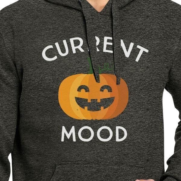 Pumpkin Current Mood Dark Grey Hoodie