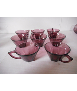 8 Purple Amethyst Cups - Excellent - $16.00