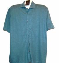 Joseph Abboud Men's Teal Blue Shirt Short Sleeve Cotton Stretch Size XL ... - $88.42 CAD