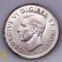 1944 Canada Silver 50 Cent Coin (UNC) Uncirculated Condition - $44.55