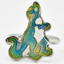 Kid's Fashion Silver Tone Dinosaur Color Changing Fashion Adjustable Mood Ring image 3