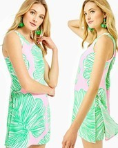 Lilly Pulitzer Donna Mandevilla Baby Who Let The Fronds Out Dress Short ... - £99.37 GBP