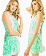 Lilly Pulitzer Donna Mandevilla Baby Who Let The Fronds Out Dress Short ... - £100.82 GBP