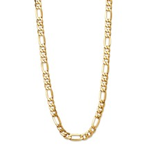 """Figaro-Link  10k Gold Chain Necklace 24"""" (6.5mm) - $599.99"""