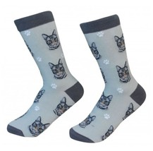Silver Tabby Cat Socks Unisex Dog Cotton/Poly One size fits most - $11.99