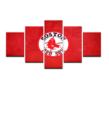 Framed 5 Piece Boston Red Sox Canvas Prints Painting Wall Art Picture Ho... - €70,54 EUR+