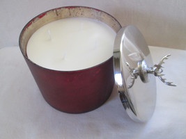 Colonial Candle 49 oz WINTER WOODS 4 Wick Center Piece Stag's Head Lid Huge - $30.00