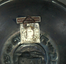 Israel Vintage Bronze Verdigris Tray Plate 1950's Rachel Tomb Signed Hakishut image 5