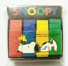 SNOOPY Eraser Old SANRIO Cute Old Retro Rare 4Color - $22.16