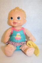 Hasbro Baby Alive Splash N Giggle Bath Tub Time Blonde Doll w/washcloth - $39.95