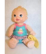 Hasbro Baby Alive Splash N Giggle Bath Tub Time Blonde Doll w/washcloth - $39.95