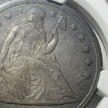 1842 Seated Liberty Silver Dollar Coin AU Details Lot A 106 image 4