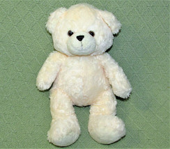 "AURORA WORLD TEDDY BEAR 11"" IVORY STUFFED ANIMAL SOFT PLUSH BROWN EYES L... - $14.03"