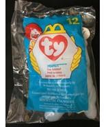 TY Teenie Beanie #12 - 1998 McDonald's - Peanut the Elephant Retired - $2.22