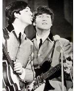 Beatles Poster McCartney Lennon w/ Rickenbacker Guitar - $11.52
