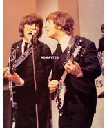 Vint Beatles 2-Sided Poster John Lennon George Harrison - $12.46