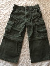 Faded Glory Boys Olive Green Cargo Pants Zip Off Shorts 3T - $4.50