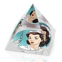 "Retro 50s Nurse Illustration 2"" Crystal Pyramid... - $15.99"