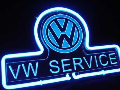 """VW Volkswagen Service 3D Beer Neon Light Sign 12"""" x 8"""""""