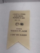 1939 Brewster Carmel Mahopac New York 3rd Place Ribbon 100 Yard Dash 22243 Track image 1