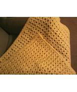 Hand crocheted plush/thick baby blanket - $65.00