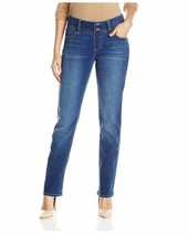NEW Riders by Lee Indigo Womens Pull-On Waist Smoother Straight-Leg Jean... - $18.27