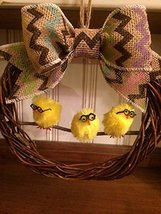 "9"" Chicks On A Stick Grapevine Easter / Spring Wreath - €15,42 EUR"
