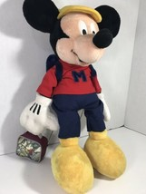 """Walt Disney's MICKEY MOUSE 18"""" PLUSH With BACKPACK & LUNCHBOX- Off To Sc... - $24.74"""