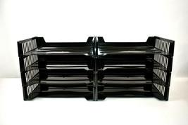 "Staples Stackable 13""x 9""x 3"" Plastic Letter Size Desk Document Trays - ... - $23.99"