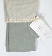 Restoration Hardware Garment-Dyed Linen King Sham 100% Linen Eucalyptus NEW $119 - $44.99