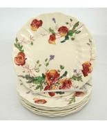 "Vintage Royal Doulton Sherborne Bread Plates Lot of 7 Scalloped 6.5"" Floral - $39.59"