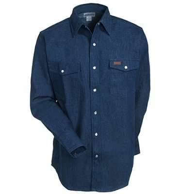 Primary image for size 4xl regular carhartt shirt denim snap front s141 dmb work shirt 4xl regular