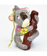 Handcrafted Painted Ceramic Koala Bear Confetti Ornament Made in Peru - $16.82