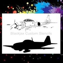 WWI Zero Fghter Plane Airbrush Stencil,Template - $10.39