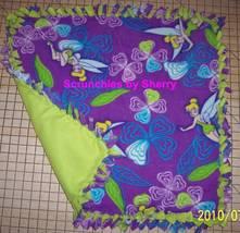 Disney Tinker Bell Purple Fleece Baby Pet Dog Blanket  - $39.95