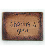Sharing is Good Wooden Refrigerator Magnet Sign  - $4.89