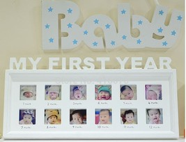 Modern Baby's Monthly Photo Frame Baby's First Year Creative Memory Frame - $37.07
