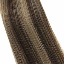 """Easyouth Tape Remy Hair Extensions 18"""" 50g 20Pcs Per Package Colour 4 Dark Brown image 5"""