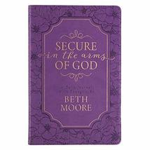 Secure in the Arms of God Faux Leather Guided Journal in Purple [Leather... - $16.10