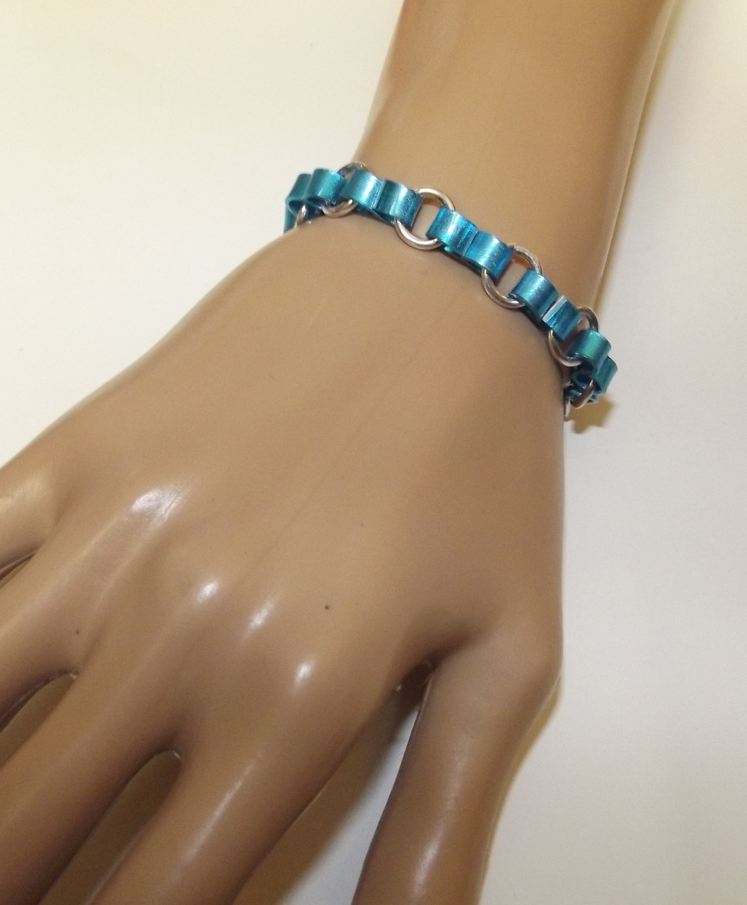 Ribbon Pride and Awareness Chainmaille Bracelet or Anklet